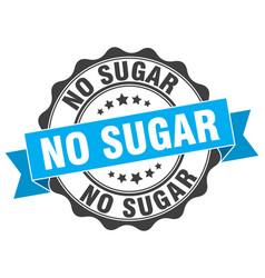 No sugar stamp sign seal vector