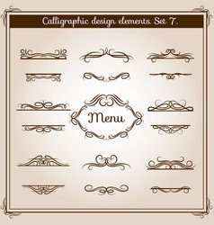 Ornamental design antique elements for text vector