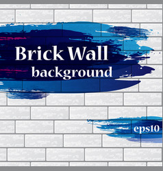 painted brick wall with text vector image