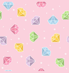 Pastel diamond seamless pattern with pink vector