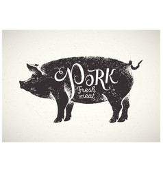 Pig and inscription 02 vector