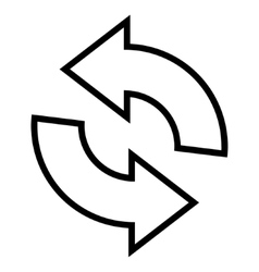 Rotate thin line icon vector