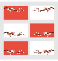 Sakura blossom greeting cards vector image