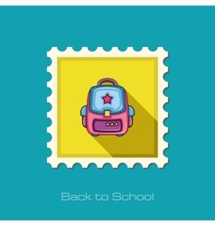 School Backpack flat icon vector image