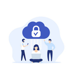 secure cloud access protected hosting art vector image