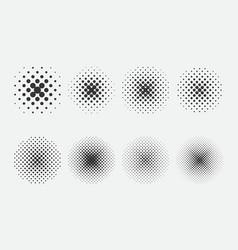 set halftone pattern for comics design vector image