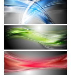 Shiny wavy banners vector image