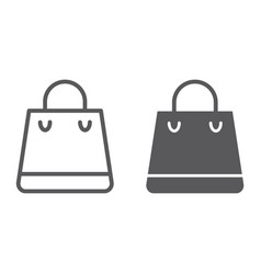 shopping bag line and glyph icon shop and buy vector image