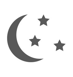 sleep icon moon and stars sign night or bed time vector image