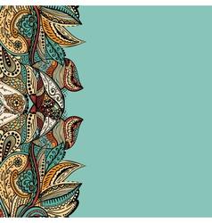 Stylish vintage floral pattern against a uniform vector image