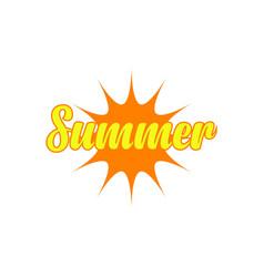 Summer template design vector