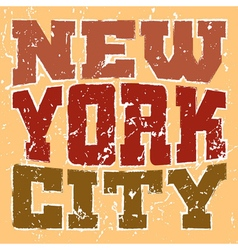 T shirt typography New York red orange vector image