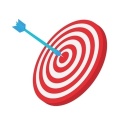 Target icon cartoon style vector image
