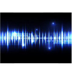 Technological sound wave light effect template vector