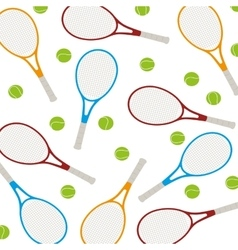 tennis sport emblem icon vector image