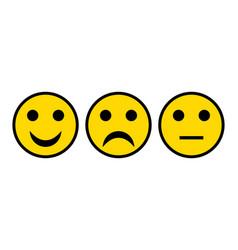 Three smileys on white vector