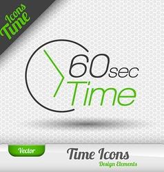 Time Icon 60 Seconds Symbol Design Elements vector image
