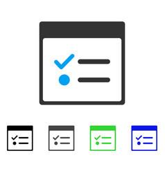 Todo items calendar page flat icon vector