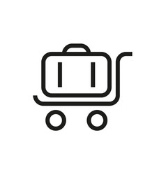 trolley luggage icon on white background vector image