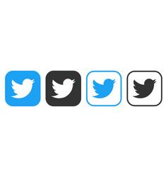 Twitter icons set logo social network vector