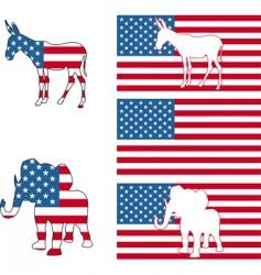 usa political vector image