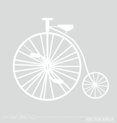 Vintage Retro Bicycle Background vector image