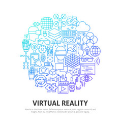 virtual reality circle concept vector image