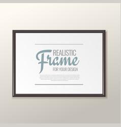 white horizontal frame for paintings vector image