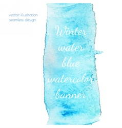 Winter water watercolor vector image