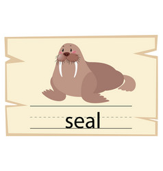 wordcard for word seal vector image