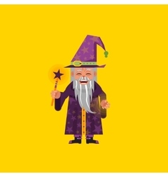 a magician character for halloween in vector image vector image