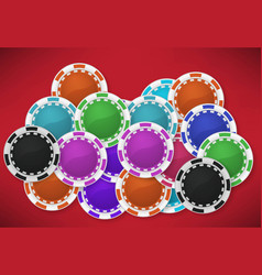 casino background with chips vector image