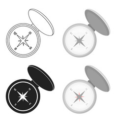 compas icon in cartoon style isolated on white vector image vector image