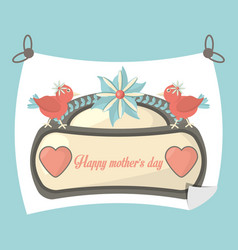 Happy mothers day poster decoration greeting vector