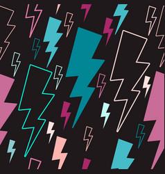 lightning seamless pattern colored lightning vector image