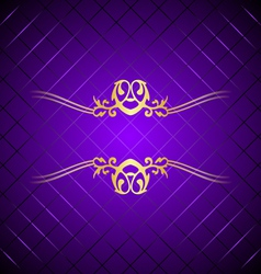 purple gold background square vector image