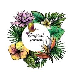 Tropical Frame Design vector image vector image