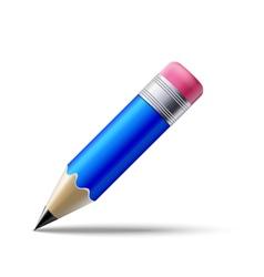 Blue pencil vector image