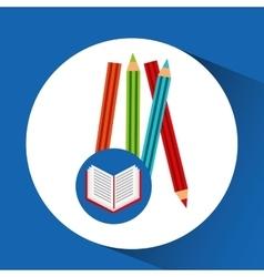 concept school book colors vector image