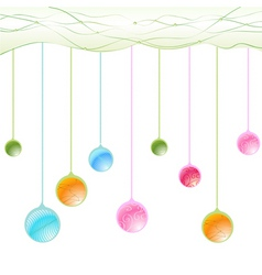 hanging balls vector image vector image