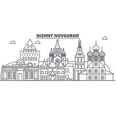 russia nizhny novgorod architecture line skyline vector image