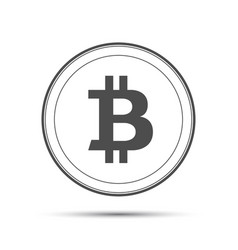 simple bitcoin icon isolated on white background vector image vector image