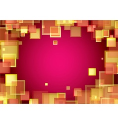 Square warm frame vector image