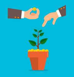 a businessman hand holding a dirt vector image