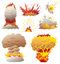Comic book explosion elements vector image vector image