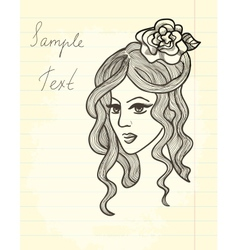 Paper drawing vector image