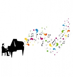 pianist plays piano vector image vector image