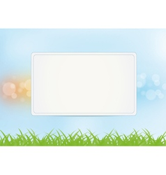 Sign on summer background vector image