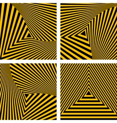 Striped triangles textures set vector image vector image