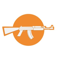 automatic gun symbol vector image vector image